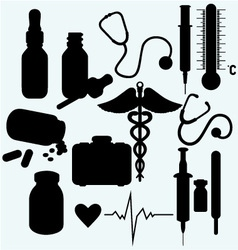 Medical supplies and equipment vector image vector image