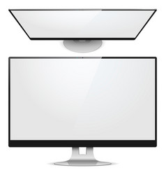 Monitor front view vector