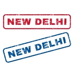 New delhi rubber stamps vector
