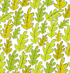 Oak leaves seamless pattern background vector image vector image