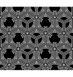 Seamless optical ornamental pattern with vector image vector image