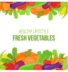 Seamless vegetable border vector