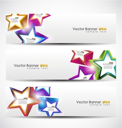 stars banner set vector image vector image