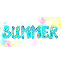 Summer banner - funny watercolor vector