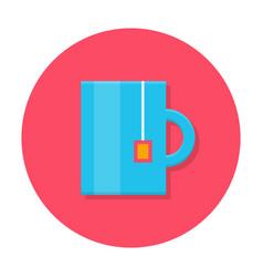 Tea mug flat icon vector