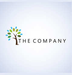 Tree logo ideas design on background vector