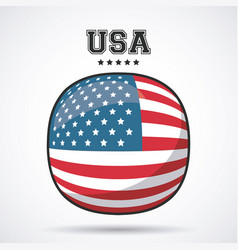 usa flag patriotism symbol icon design vector image vector image