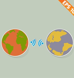 Wireless communication - - EPS10 vector image vector image