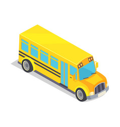 yellow school bus isolated vector image vector image