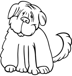 Shaggy terrier cartoon for coloring vector