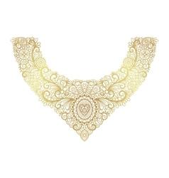 Golden neck print floral design vector image