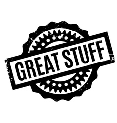 Great stuff rubber stamp vector