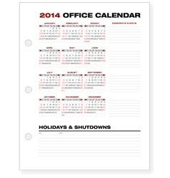 2014 clean corporate office calendar vector