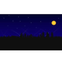 city building night vector image
