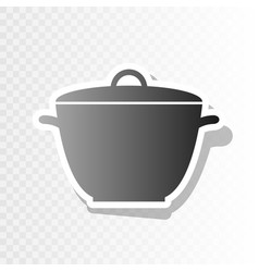 Saucepan simple sign  new year blackish vector