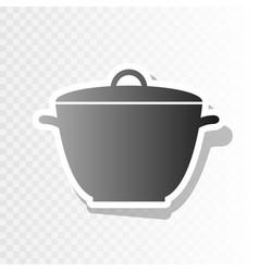 saucepan simple sign  new year blackish vector image