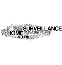 Basic knowledge about home surveillance text word vector