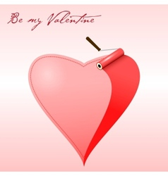 Valentine card  painted heart vector image