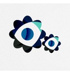 Green eco unusual background concept vector image