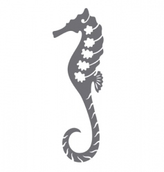 sea horse tattoo vector image