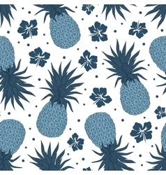 Vintage pineapple seamless pattern vector