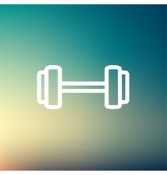 Dumbbell thin line icon vector