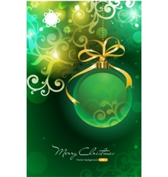 Christmas background with bauble vector