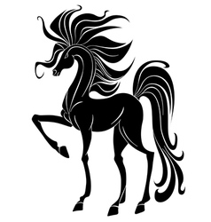 Black stallion vector