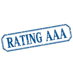 Rating aaa square blue grunge vintage isolated vector