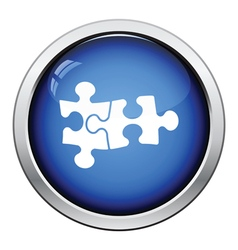 Puzzle decision icon vector