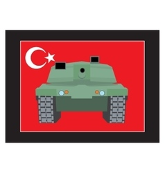 Turkey military coup tank against the background vector