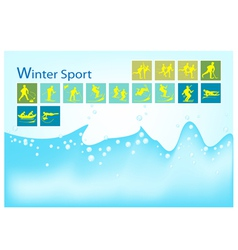 A Mega Set of 15 Winter Sport Icons vector image