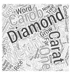 About diamond weights word cloud concept vector