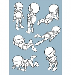 astronauts vector image vector image