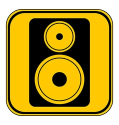 Audio speaker button vector image