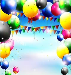 Balloons decoration for you design vector