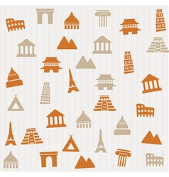 Building seamless pattern vector image