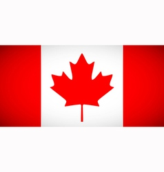 Canadian flag with correct proportions and color vector
