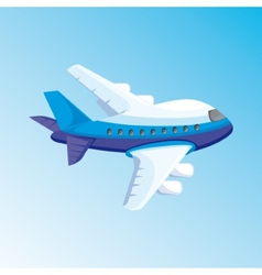 cartoon with airplane vector image vector image