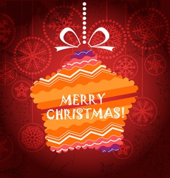 Christmas greeting card with ornamented star vector image
