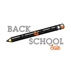 color vintage back to school sale emblem vector image vector image