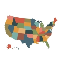 Colorful political USA map vector image vector image