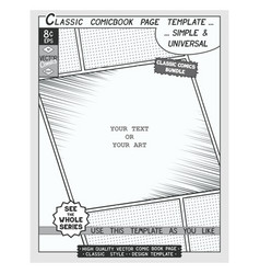 comic book style template vector image