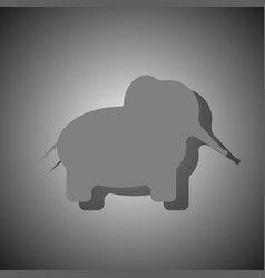 contour of an elephant of a dark gray color with vector image vector image