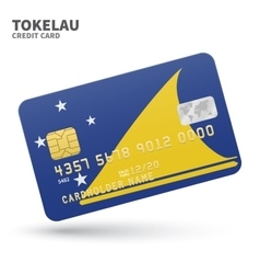 Credit card with Tokelau flag background for bank vector image