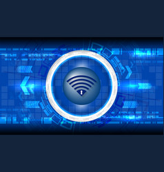 cyber digital technology vector image vector image