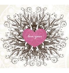 Elegance valentine background vector