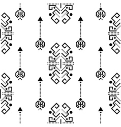 Ethnic tribal ornament seamless pattern vector image vector image