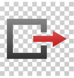 Exit gradient icon vector