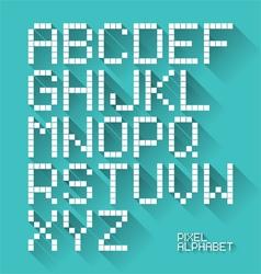 Flat design pixel alphabet vector image